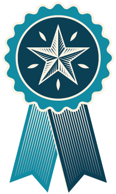 Badge with star