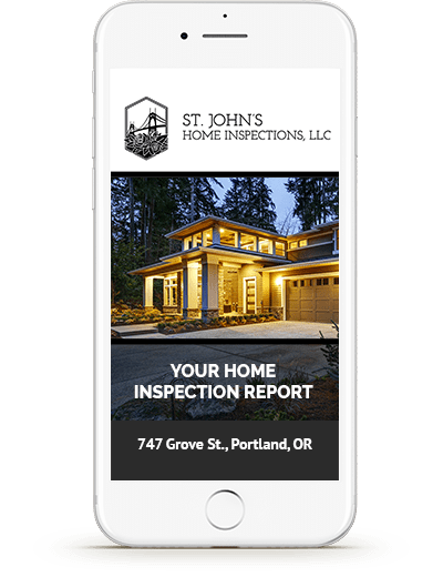 Example Home Inspections Report on Iphone